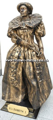 Queen Elizabeth the First Human Living Statue